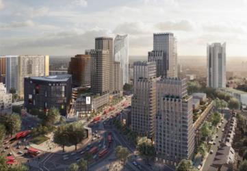CGI of Town Centre development