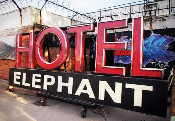 Hotel Elephant sign