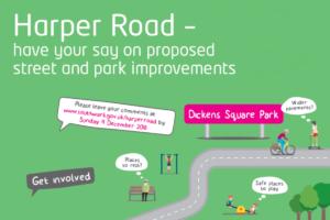 Harper Road improvements: find out more on 30 November