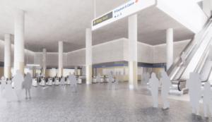 CGI Northern line ticket hall