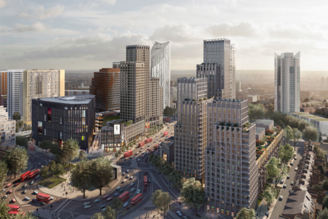 CGI of the Town Centre development